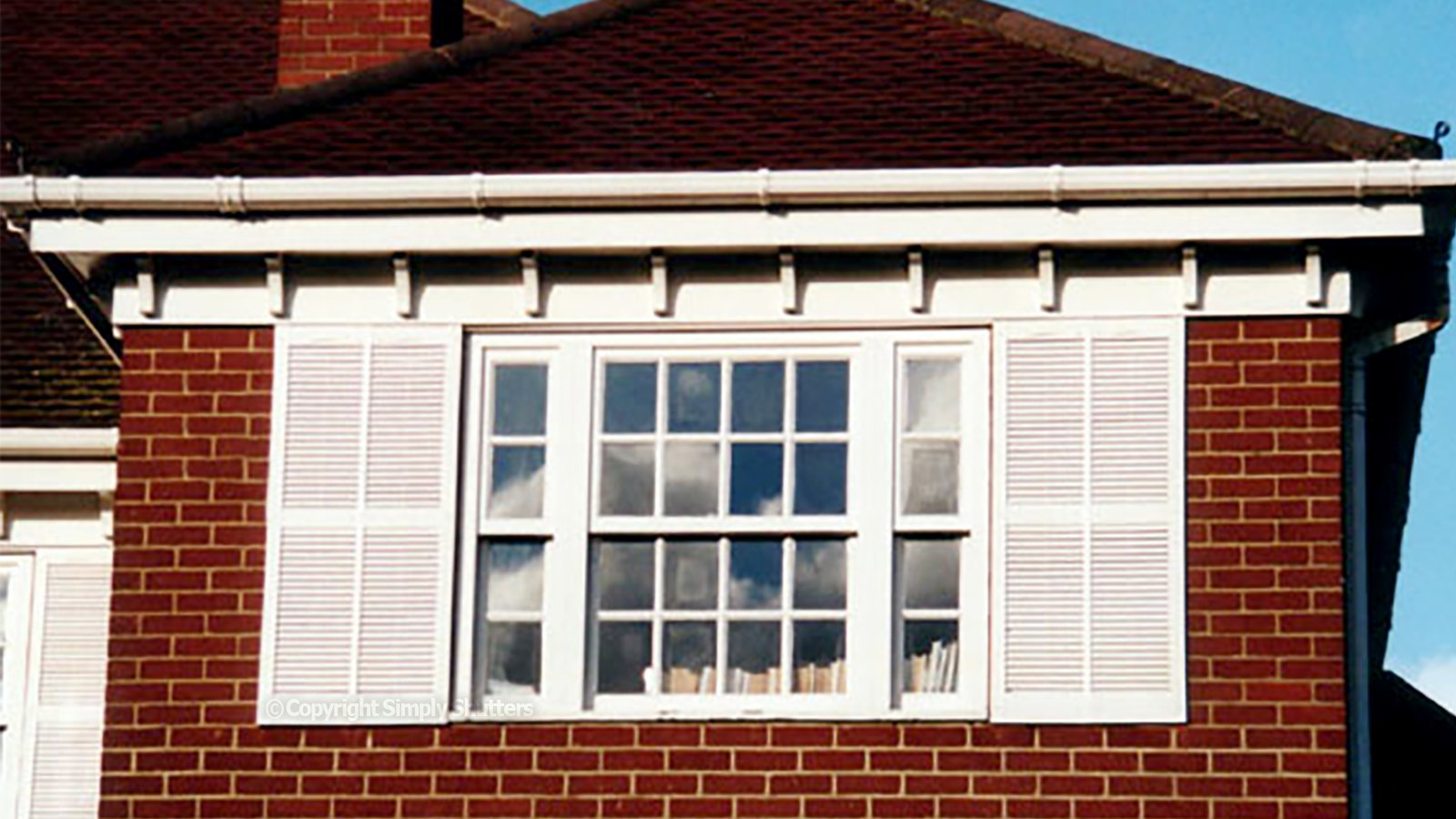 Extra Wide Traditional Louvre Shutters | Straight Top - Centre Mullion