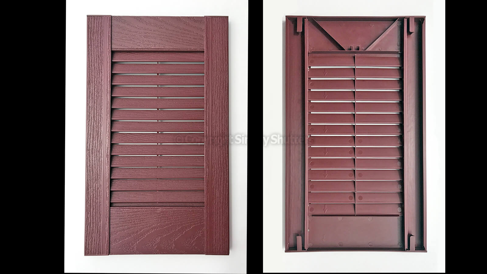 Traditional Louvre Shutters - Front and Back