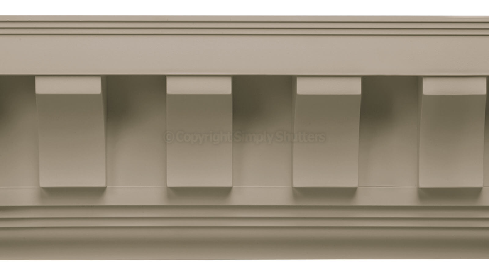 UPVC Scalloped & Square Tooth Dentil Trim - Individual