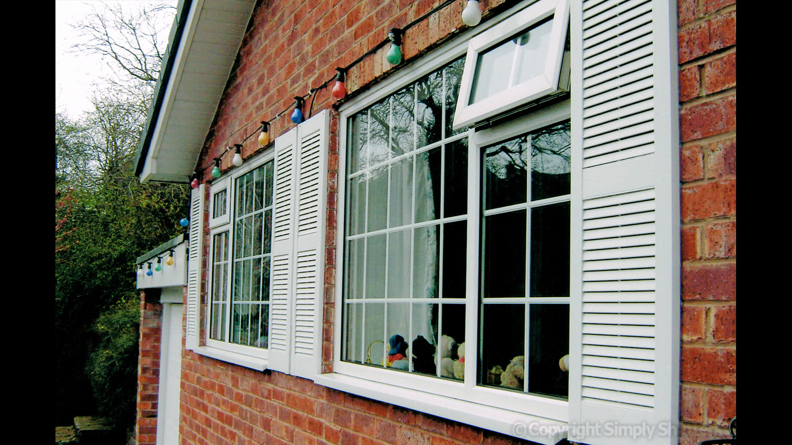 Traditional Louvre Shutters | Straight Top - Centre Mullion