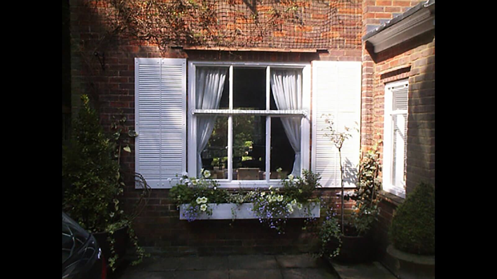 Extra Wide Traditional Louvre Shutters | Straight Top - All Louvre