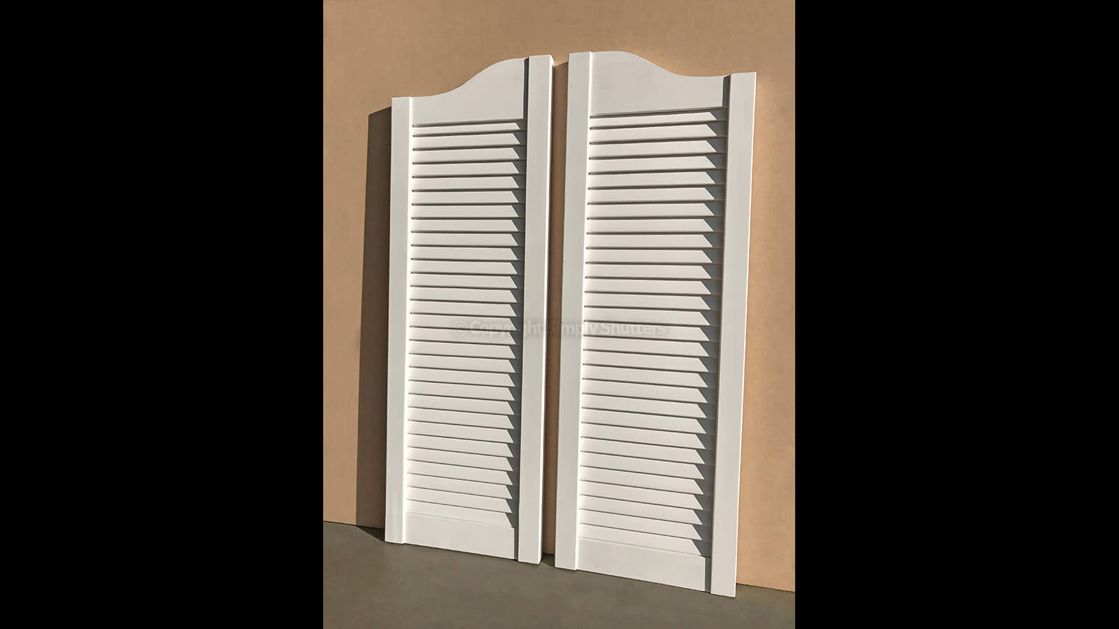 Modified White Painted Louvre Doors