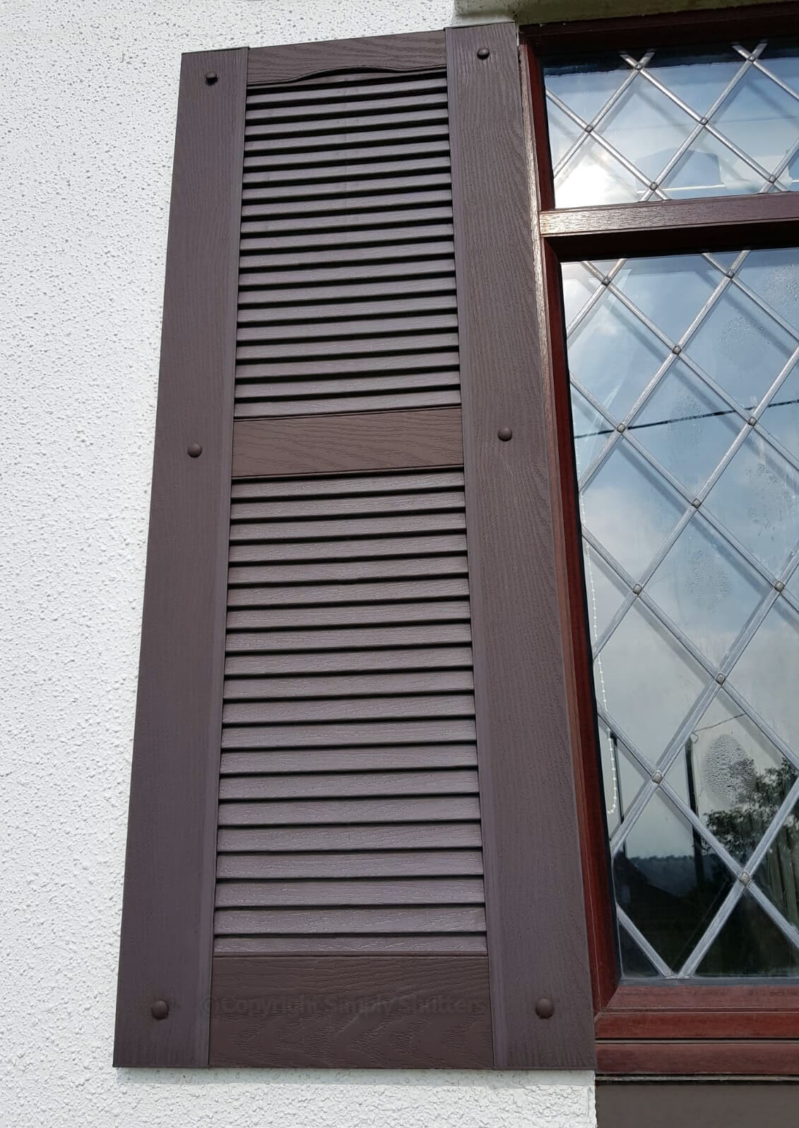 Traditional Louvre Shutter | Straight Top - Centre Mullion