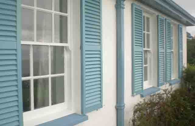 Plastic decorative exterior window shutters simply shutters - Where to buy exterior window shutters ...