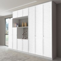 Araucaria White Line pre-painted pine louvre doors