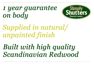 1 year guarantee on body - Build with high quality Scandinavian Redwood