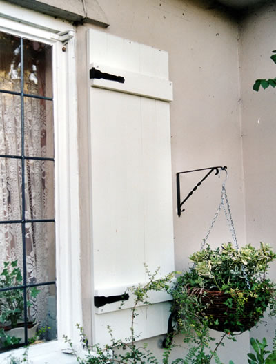 Board and batten decorative exterior window shutters from for Country shutters