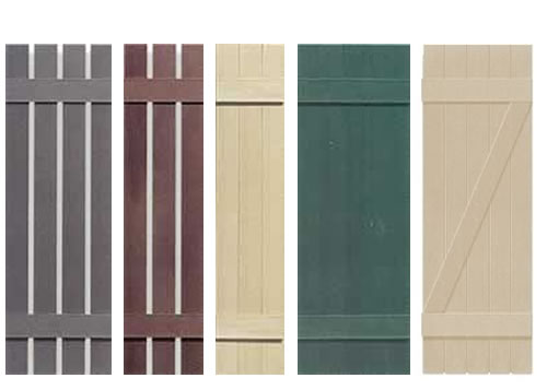 Board And Batten Decorative Exterior Window Shutters From