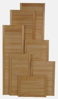 Great value knot free Araucaria pine louvre doors