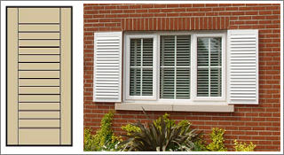 Town Country Exterior Window Shutters Synthetic Wood Shutters by