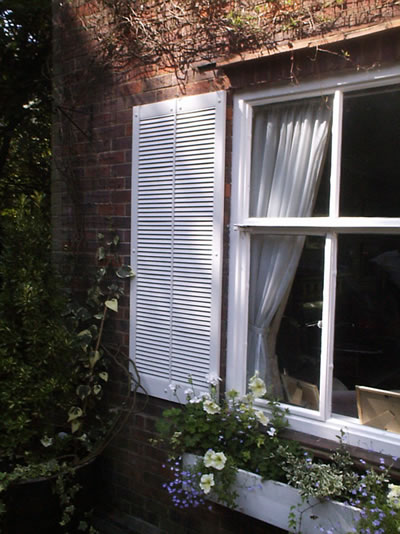 Decorative Extra Wide Traditional Louvre Window Shutters