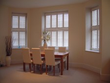 Tier on tier interior shutters
