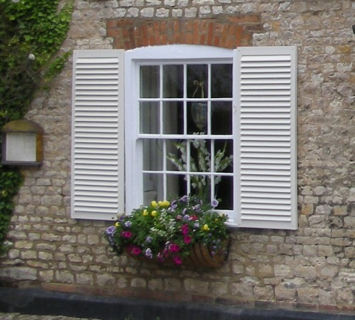 Exterior shutters for Window shutters