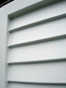 closed up louvred white marbella shutter