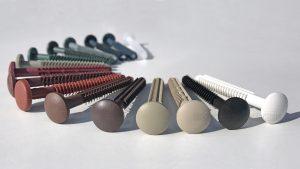 close up mixed colours polypropylene shutter spikes