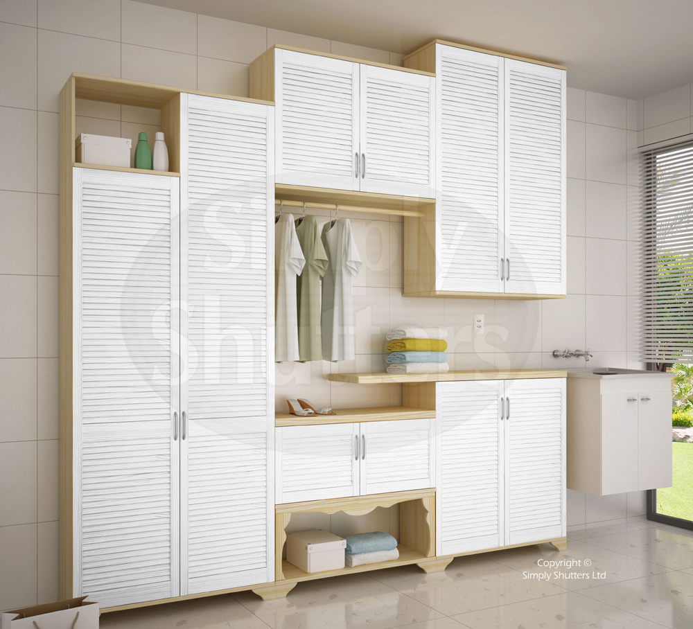 All sizes of white painted interior louvre doors available only at Simply Shutters.