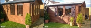 Shutters on Shed Before and After 2