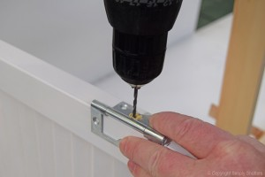 Add Hinges to door using Pilot Drill 2