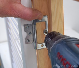 Pilot Hole in Door Frame with Hinge 2