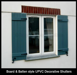 Board & Batten Style Decorative Shutters