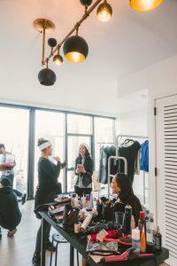 women in a dressing studio area