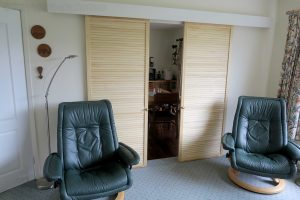 louvre doors fitted as sliding doors