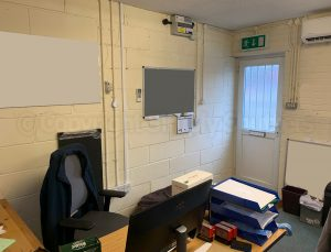 interior of corner of office
