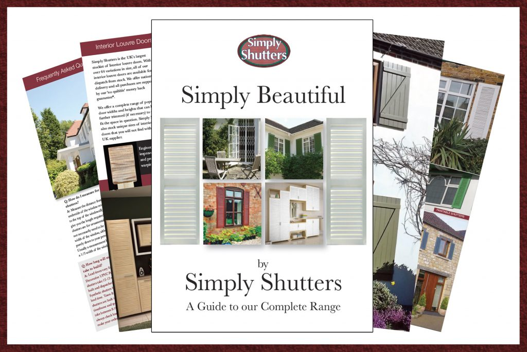 select pages of simply shutters product brochure